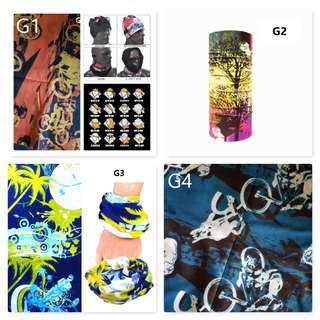 Bandana/ Multi Function Scarf/ Head Neck Wear/ Outdoor scarf/ Biker face mask (GRAFFITI DESIGN