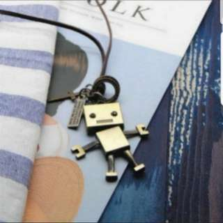 Korean fashion Retro robot sweater chain / necklace
