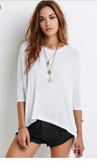 Forever 21 casual white top #wincookies