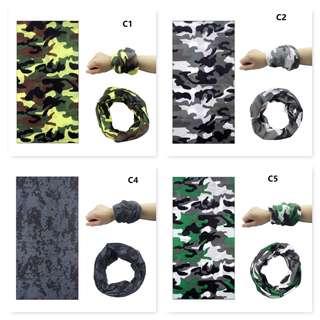 Bandana/ Multi Function Scarf/ Head Neck Wear/ Outdoor scarf/ Biker face mask (CAMO DESIGN)
