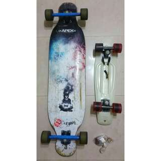 Cheap Apex Longboard and penny board