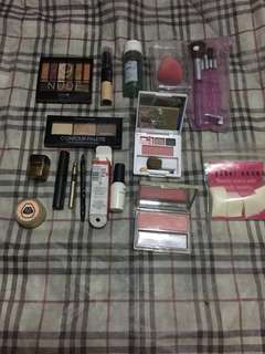 All authentic branded makeup foundation eye palettes brushes and others with freebies on second photo