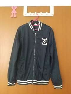 Navy Blue Baseball Jacket