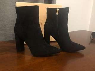 Billini Black Suede Heeled Boot