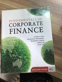Fundamental of corporate finance