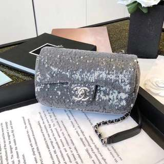 Chanel Flap Sequinned Bag