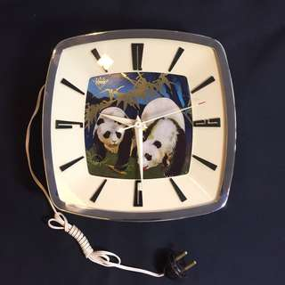 Vintage Panda Diamond Brand Clock