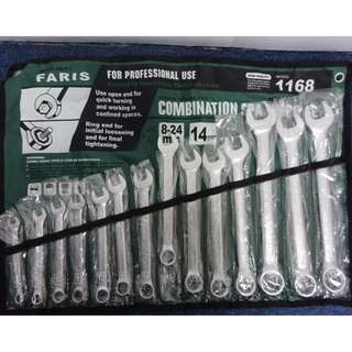FARIS Japan 8-24MM (14PCS) Combination Wrench Set