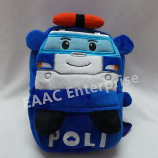 Cartoon Robocar Poli Kid Kindergarten Backpack School Shoulder Bag (S)