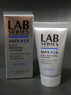 Lab Series Skincare for Men Max LS Daily Renewing Cleanser 30ml CLEAN brand new in box!