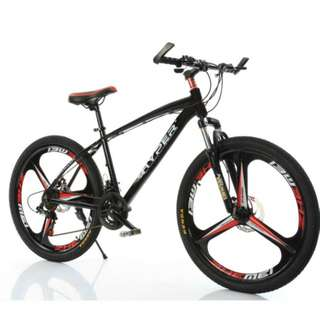 PROMO-FREE Delivery -Brand new 26'' Mountain Bike, with Aluminium alloy frame , 3 Spoke wheels , 21 speed Shifter, Both Quick Release wheels, Disc brakes etc.