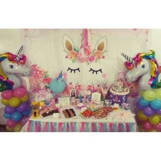 Mini unicorn set up Customize Custom customised Personalised Personalized Backdrop Background