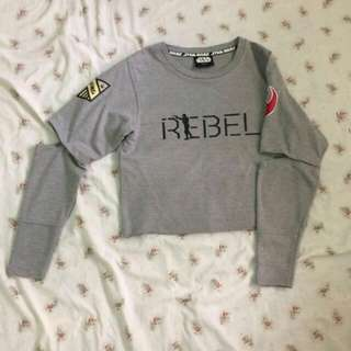 Folded and Hung Cropped Star Wars sweater/pullover