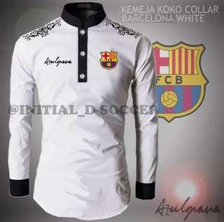 Kemeja koko collar barcelona