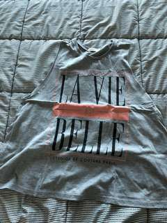 River Island La Vie Est Belle Muscle Tee