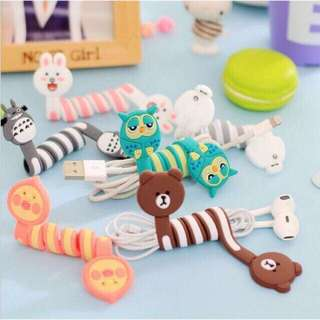 Character cable winder cord protector