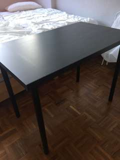 Ikea Black brown study table