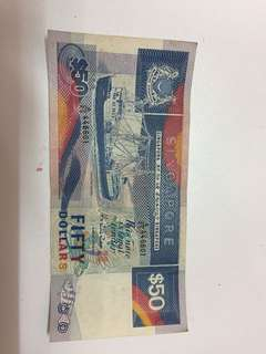 Ship Series Singapore currency