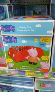 Authentic brand new sealed Peppa pig car lego construction blocks