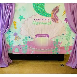 Perfect mermaid Customize Custom customised Personalised Personalized Backdrop Background