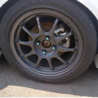 Original SSR Type F 16inch rims