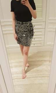 Silver-Black sequim skirt