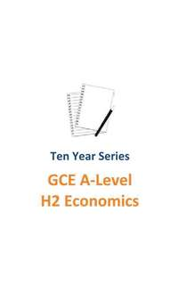 2007-2016 HCI GCE A level H2 Economics + SAJC solution for 2013 - 2016 A Level Exam Paper / 2 sets of TYS : HCI and SRJC / H2 Economics TYS / Haw Chong Institution / St Andrew Junior College / Ten year series / TYS