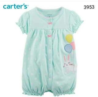 romper Carter's rabbit mint