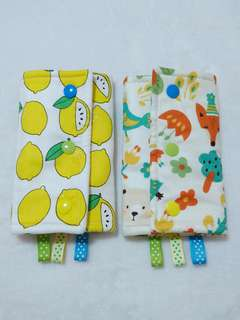 Straight Drool Pads - Lemon and Forest