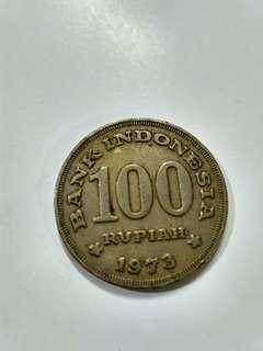 Koin RI Rp100 tahun 1973