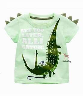 男童立體鱷魚上衣