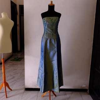 dress pesta long dress gilap