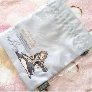 日本版 - Disney Alice in wonderland SHO-BI pouch 迪士尼愛麗絲 白兔先生 萬用索繩布袋 - 藍