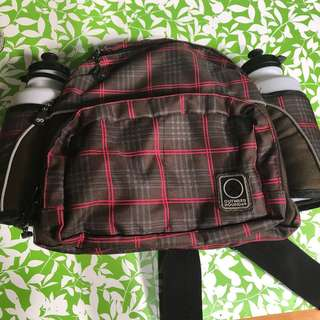 Outward Hound Dog Walking Beltbag with 2 Water Bottles