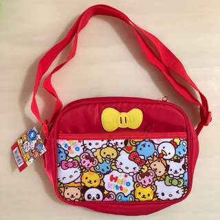 BN 👩🏻‍🏫SANRIO👩🏻‍🏫 Girls' Hello Kitty Children/ Kids' School/ Sling/ Lunch Bag