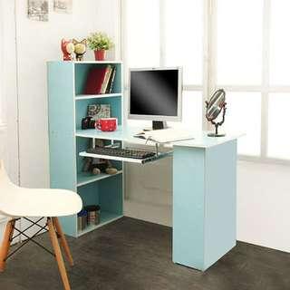 小清新多功能書櫃+書桌