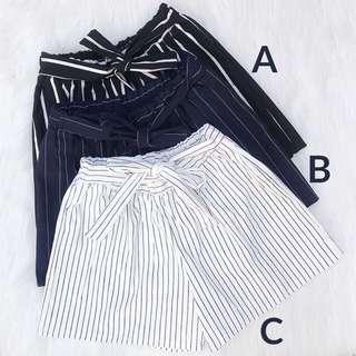 Stripes candy shorts