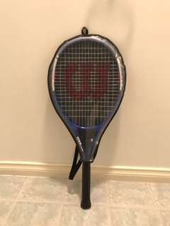 Wilson tennis racket blue
