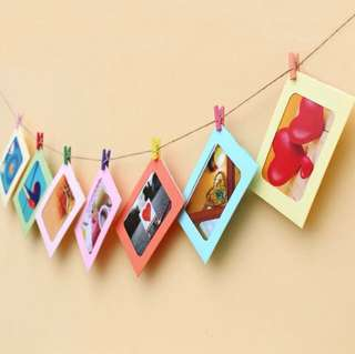 PAPER PHOTO FRAME DIY Home Wall Picture Hanging Frame ($4) - ready stock
