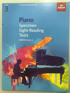 Piano Specimen Sight Reading Tests Grade 3