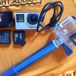 Gopro hero 4 black with lcd