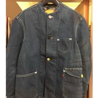 Levi's RED 2004SS Lucas Collarless Chore Work Jacket Size S