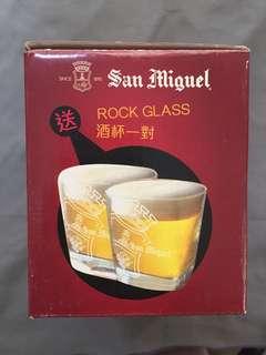 私人珍藏 生力啤酒杯一對 San Miguel glass one pair