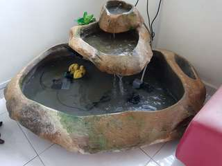 Water Fountain in Solid Stone/Rock.
