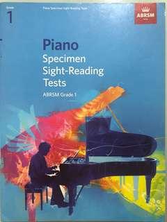 Piano Specimen Sight Reading Tests Grade 1