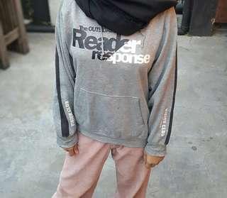 Grey Hoodie Acid Ash Abu Abu Man Women UNISEX LIST BLACK VISION CLUB