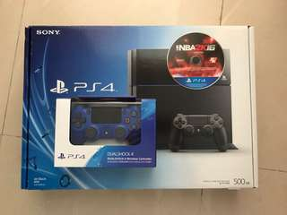 PS4 with 1 Wireless Controller & NBA2K16