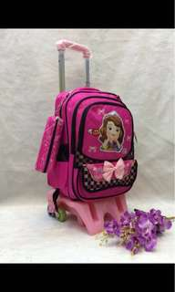 2in1 kids trolly bagpack   Size : 18*13