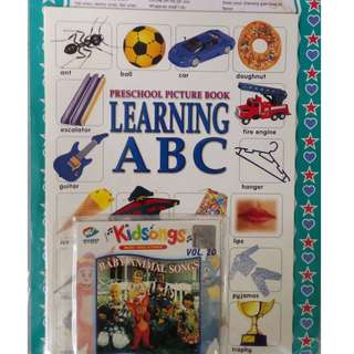 Preschool Picture Book Learning ABC + Kidsongs Baby Animal Songs Vol.20 VCD