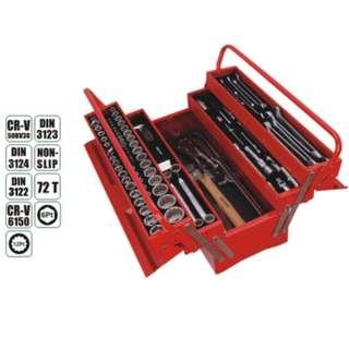 Aeroforce 132pcs Socket Wrench Auto Tool Box Set